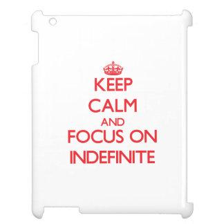 Guarde la calma y el foco en indefinido