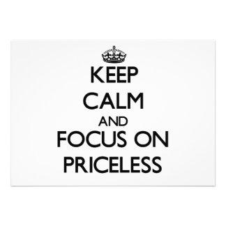 Guarde la calma y el foco en inestimable