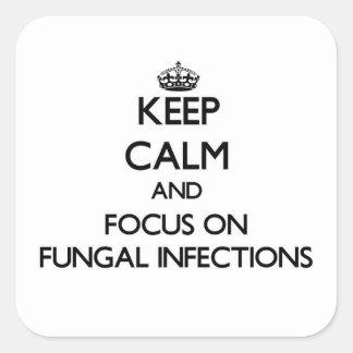 Guarde la calma y el foco en infecciones por pegatina cuadrada