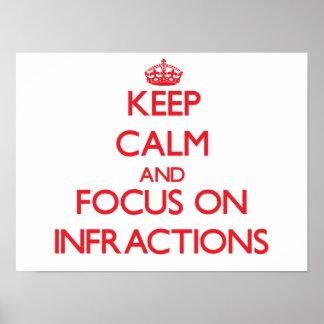 Guarde la calma y el foco en infracciones impresiones