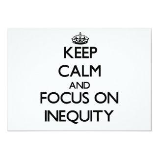 """Guarde la calma y el foco en injusticia invitación 5"""" x 7"""""""
