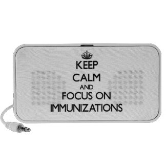 Guarde la calma y el foco en inmunizaciones mini altavoces