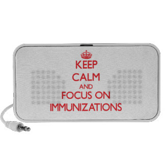 Guarde la calma y el foco en inmunizaciones altavoces de viajar