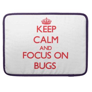 Guarde la calma y el foco en insectos fundas para macbook pro