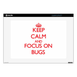 Guarde la calma y el foco en insectos portátil 38,1cm skin