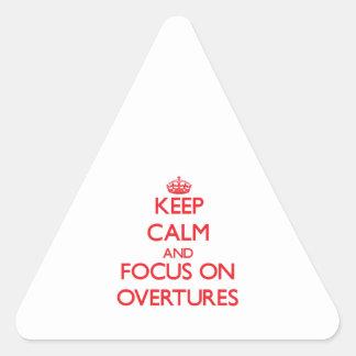 Guarde la calma y el foco en insinuaciónes colcomanias triangulo personalizadas