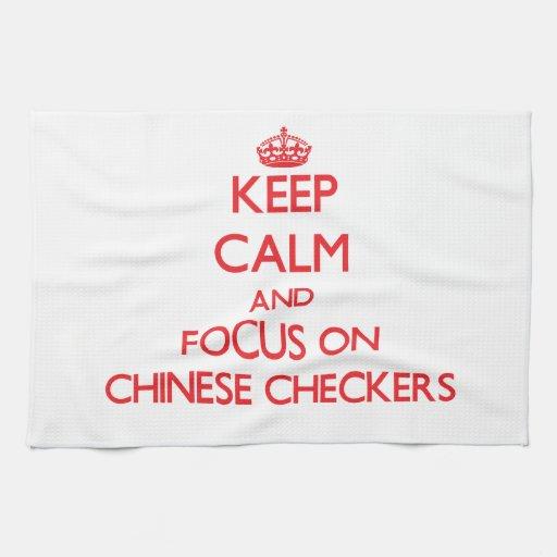 Guarde la calma y el foco en inspectores chinos toallas