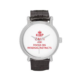 Guarde la calma y el foco en instintos paternales relojes de mano