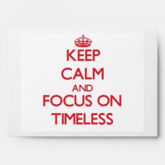 Guarde la calma y el foco en intemporal