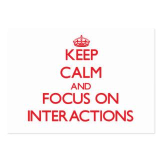 Guarde la calma y el foco en interacciones tarjeta personal