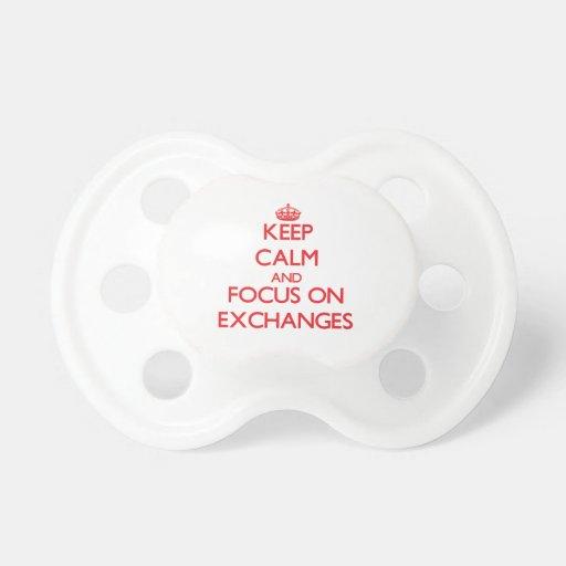 Guarde la calma y el foco en INTERCAMBIOS Chupetes Para Bebes