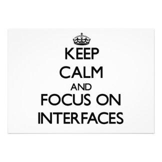 Guarde la calma y el foco en interfaces comunicado personal