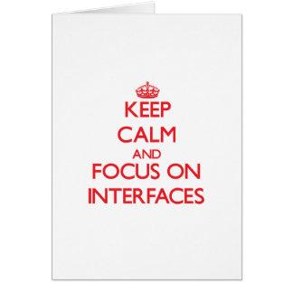 Guarde la calma y el foco en interfaces