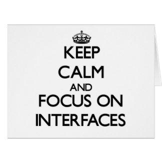 Guarde la calma y el foco en interfaces tarjeton