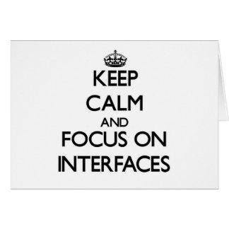 Guarde la calma y el foco en interfaces felicitaciones