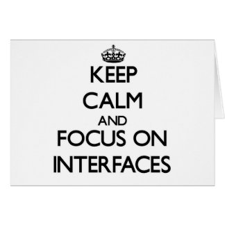 Guarde la calma y el foco en interfaces felicitación