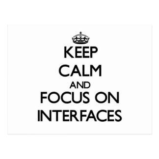 Guarde la calma y el foco en interfaces postales