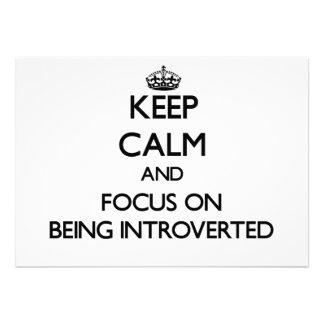 Guarde la calma y el foco en Introverted Comunicado Personal
