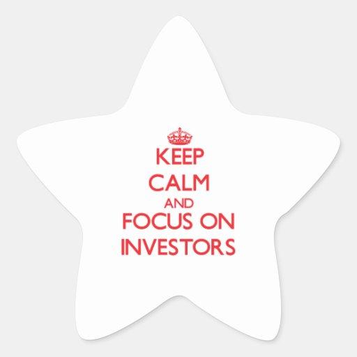 Guarde la calma y el foco en inversores colcomanias forma de estrella