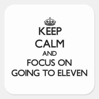 Guarde la calma y el foco en IR A ONCE