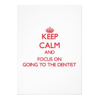 Guarde la calma y el foco en ir al dentista comunicados personales