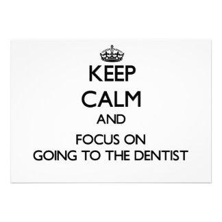 Guarde la calma y el foco en ir al dentista