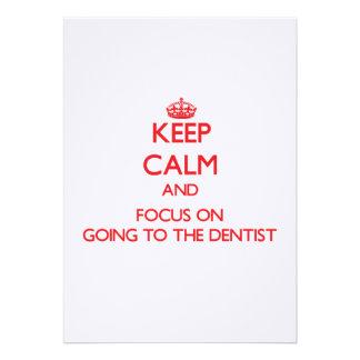 Guarde la calma y el foco en ir al dentista comunicado