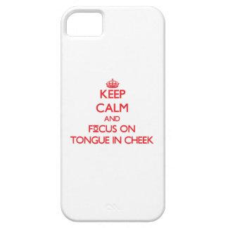 Guarde la calma y el foco en irónico iPhone 5 Case-Mate coberturas