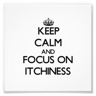 Guarde la calma y el foco en Itchiness Cojinete