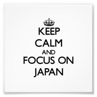 Guarde la calma y el foco en Japón Foto