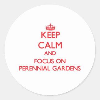 Guarde la calma y el foco en jardines perennes