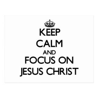 Guarde la calma y el foco en Jesucristo