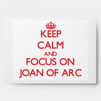 Guarde la calma y el foco en Juana de Arco