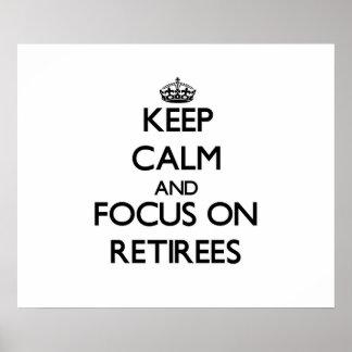 Guarde la calma y el foco en jubilados