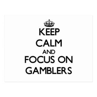 Guarde la calma y el foco en jugadores postales