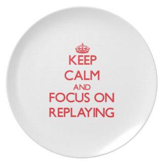 Guarde la calma y el foco en jugar de nuevo