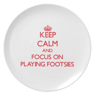 Guarde la calma y el foco en jugar Footsies