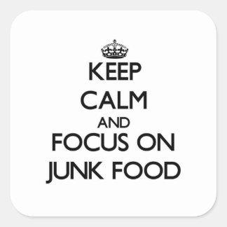 Guarde la calma y el foco en Junk Food