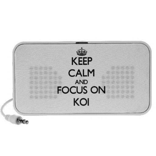 Guarde la calma y el foco en Koi Altavoz De Viaje