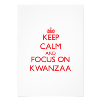 Guarde la calma y el foco en Kwanzaa Comunicados Personales