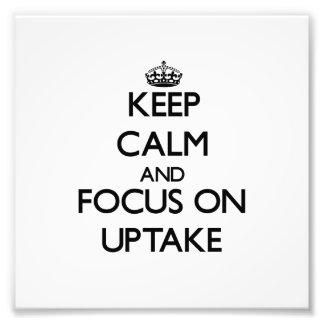 Guarde la calma y el foco en la absorción fotos
