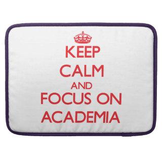 Guarde la calma y el foco en la ACADEMIA Funda Para Macbook Pro