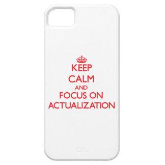 Guarde la calma y el foco en la ACTUALIZACIÓN iPhone 5 Carcasa