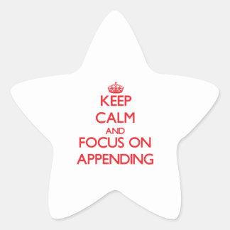 Guarde la calma y el foco en la ADICIÓN Calcomanías Forma De Estrellas