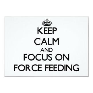 """Guarde la calma y el foco en la alimentación invitación 5"""" x 7"""""""
