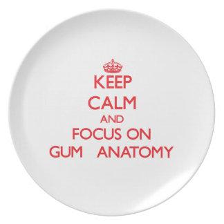 Guarde la calma y el foco en la anatomía   de la g platos