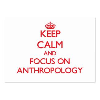 Guarde la calma y el foco en la ANTROPOLOGÍA