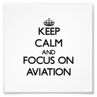 Guarde la calma y el foco en la aviación fotografias