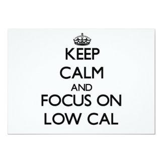 Guarde la calma y el foco en la caloría baja anuncios personalizados