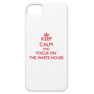 Guarde la calma y el foco en la Casa Blanca iPhone 5 Case-Mate Coberturas